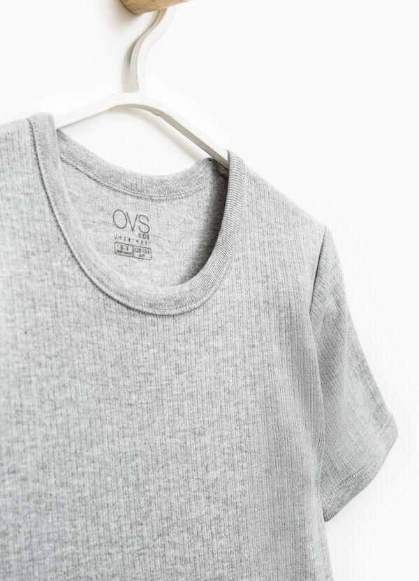 Solid colour cotton sleeveless undershirt | OVS
