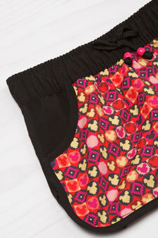 Patterned shorts with elastic waist band, Red, hi-res