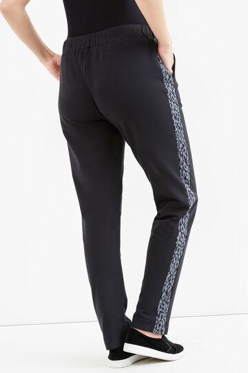 Curvy animal gym pants, Black, hi-res