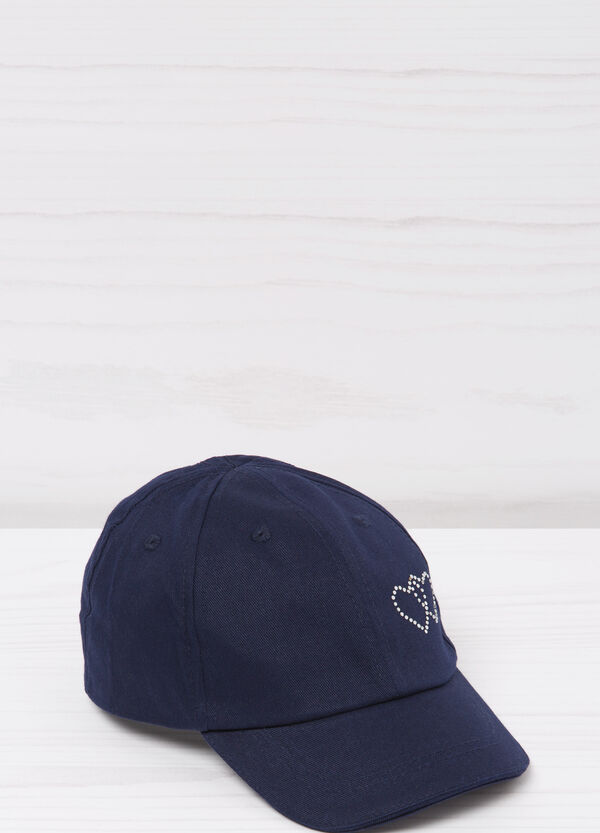 Cotton and diamanté baseball cap | OVS