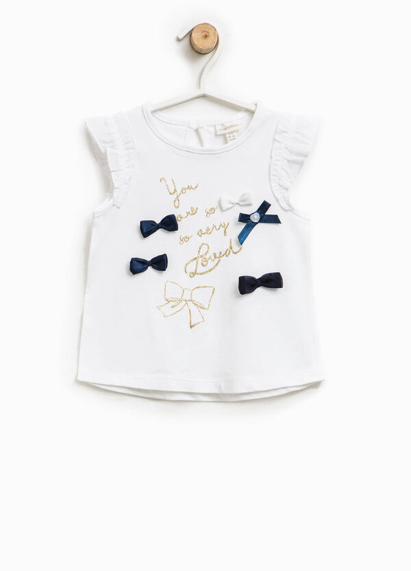 T-shirt with print and bows   OVS
