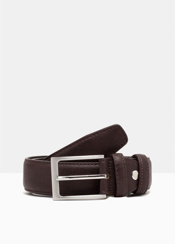 Hammered leather look belt. | OVS