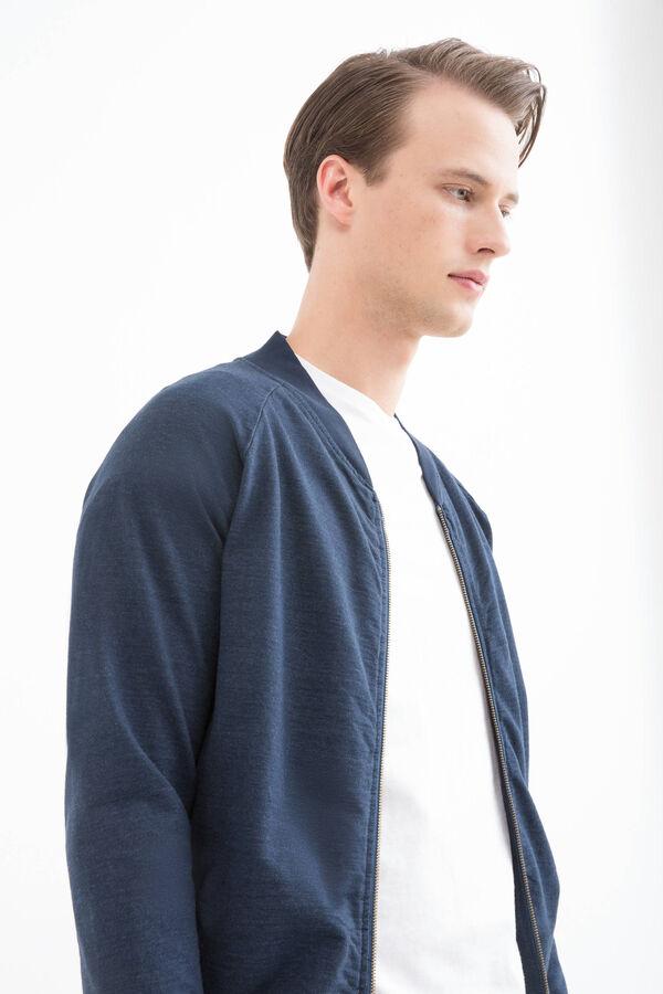 Cotton blend hoodie with zip | OVS