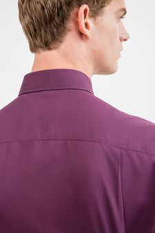 Camicia formale regular fit in misto cotone, Viola, hi-res