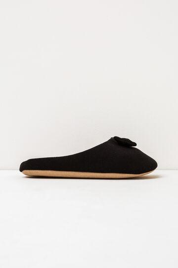 Pantofole con fiocchetto, Nero, hi-res