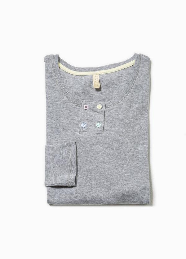 Maglia pigiama in cotone tinta unita | OVS