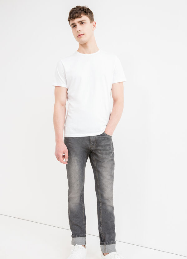 Slim fit, worn-effect jeans with abrasions | OVS