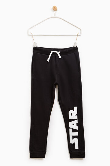 Cotton Star Wars joggers in 100% cotton, Black, hi-res