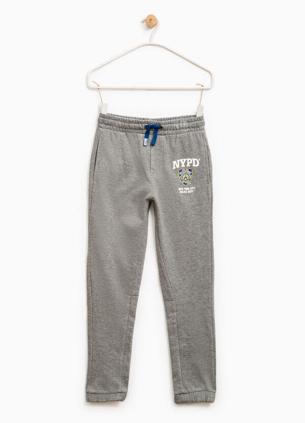 Pantalón de chándal en algodón 100% con estampado | OVS