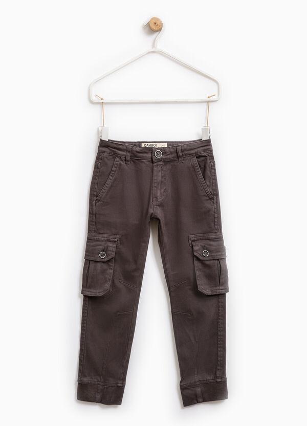 Pantaloni chino cargo cotone stretch | OVS