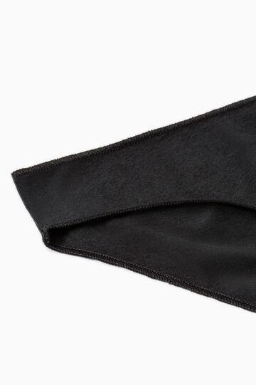 Solid colour stretch cotton briefs, Black, hi-res