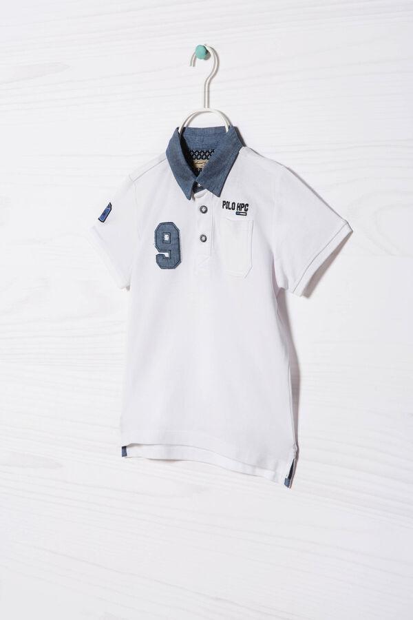 Polo in puro cotone con patch | OVS