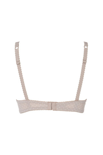 Reggiseno push up stretch fantasia, Grigio taupe, hi-res