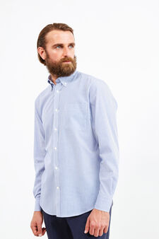 Striped formal shirt with regular fit, Soft Blue, hi-res