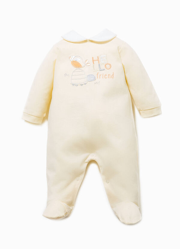 Embroidered onesie with feet | OVS