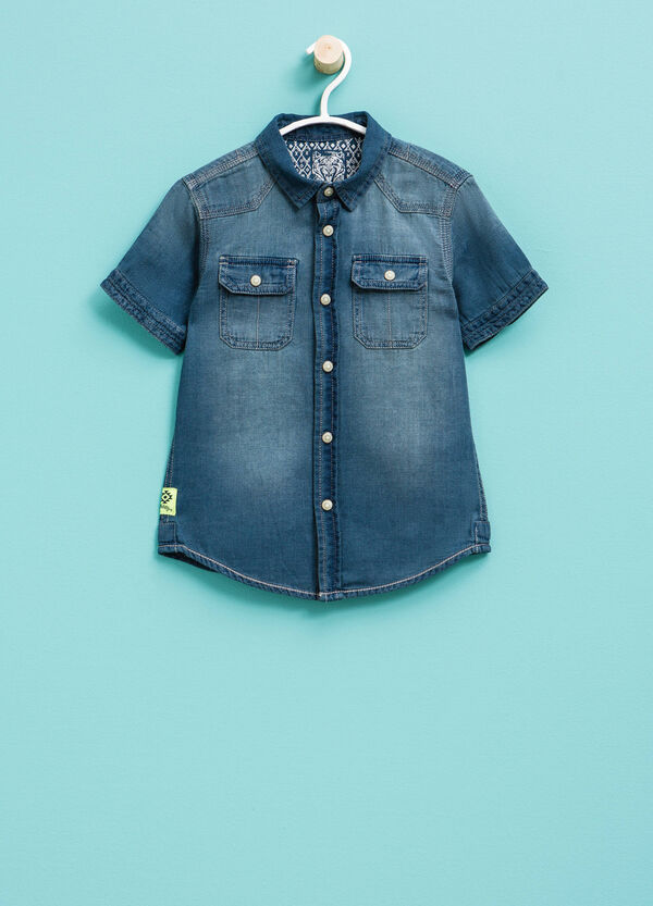 Short-sleeved denim shirt | OVS