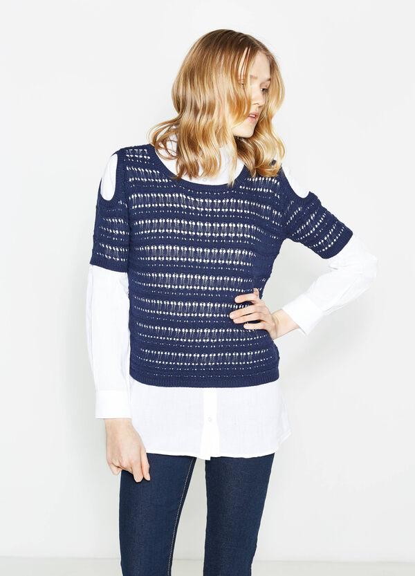 100% cotton openwork pullover | OVS