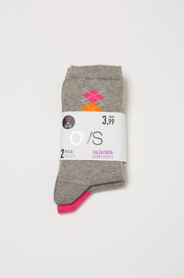 Two-pair pack stretch socks in cotton