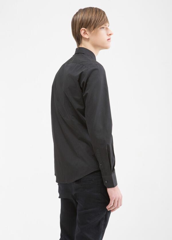 Camicia slim fit tinta unita | OVS