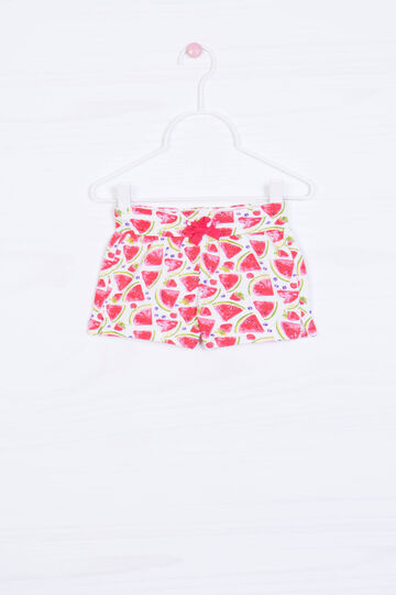 Watermelon pattern shorts in cotton, Multicolour, hi-res