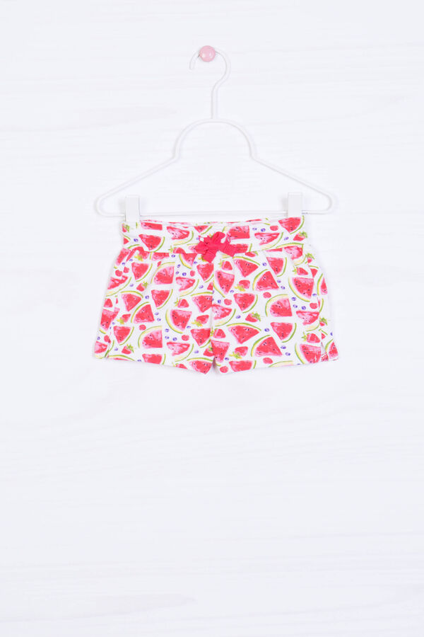 Watermelon pattern shorts in cotton | OVS