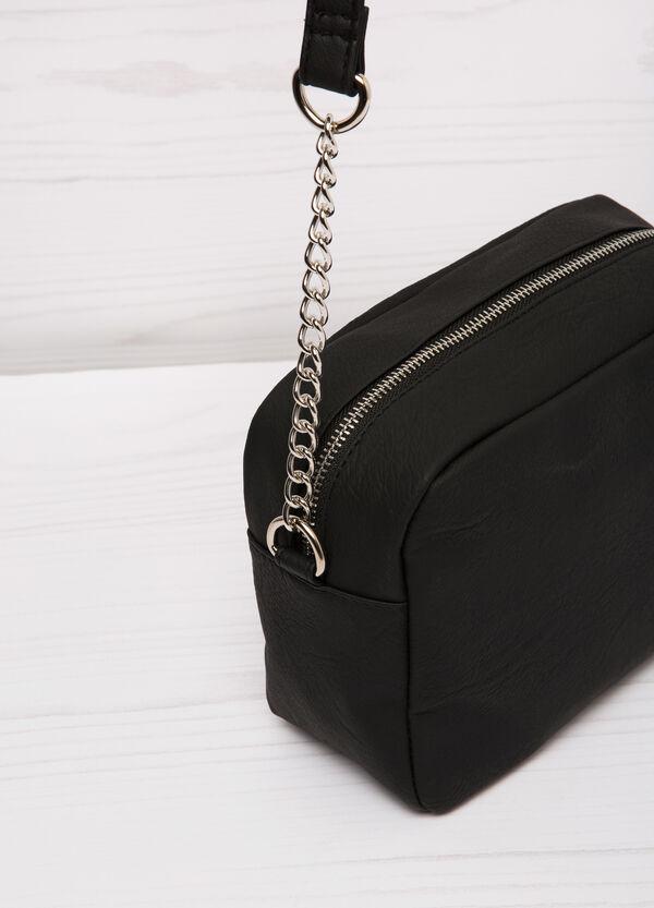Leather look shoulder bag | OVS