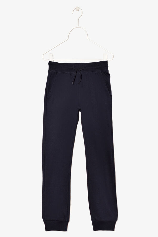Pantaloni cotone e viscosa tinta unita | OVS