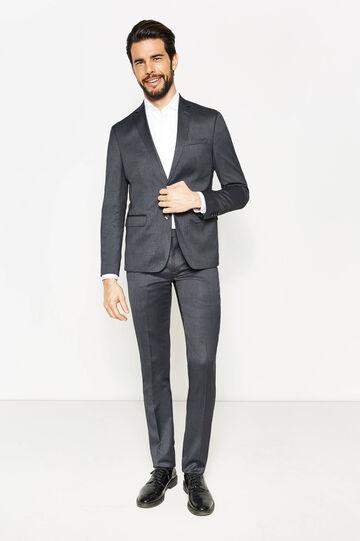 Slim-fit suit in stretch viscose