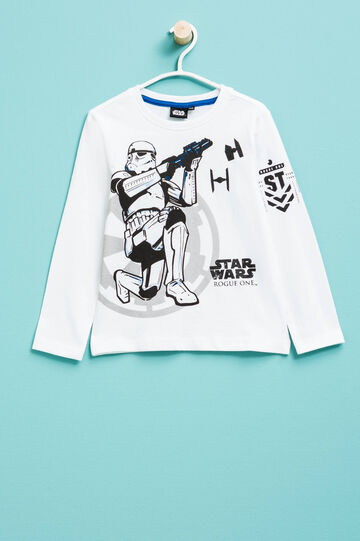 Star Wars print cotton T-shirt, Off-white, hi-res