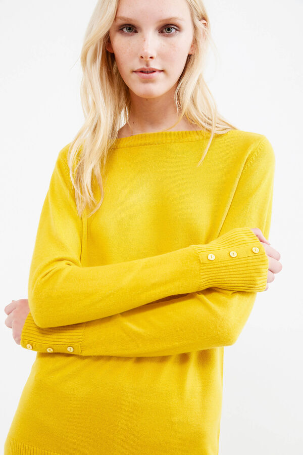 Pullover with buttons on cuffs   OVS