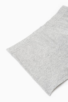 Three-pack solid colour stretch boxer shorts, Grey/Blue, hi-res