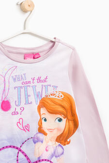Sofia the First print T-shirt, Lilac, hi-res