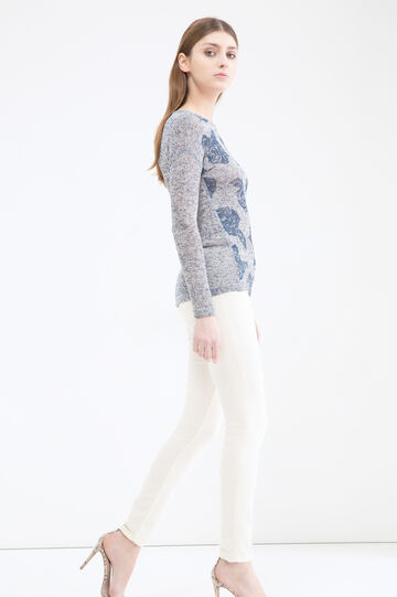 Printed sweatshirt in viscose blend