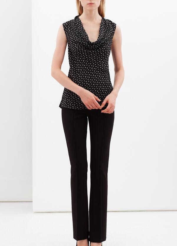 Floral blouse with drape neckline. | OVS