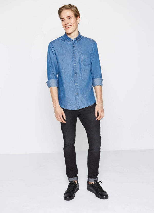 Regular-fit casual shirt in 100% cotton | OVS