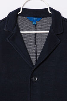 100% cotton jacket with pockets, Navy Blue, hi-res