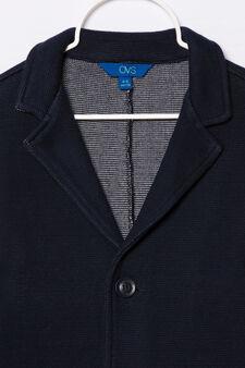 Giacca puro cotone con tasche, Blu navy, hi-res