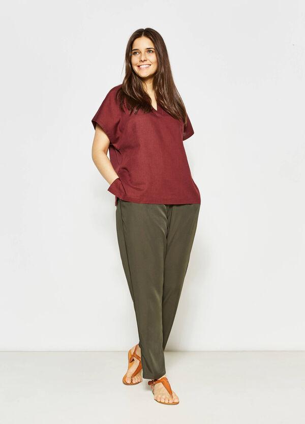 Blusa de lino y algodón Curvy | OVS