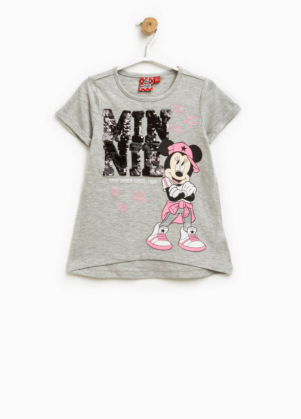T-shirt with sequins and Minnie Mouse print | OVS