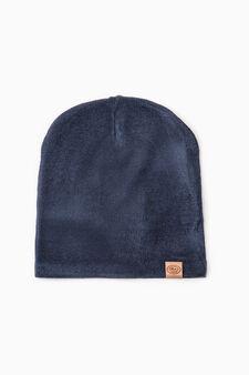Reversible beanie cap, Blue/Grey, hi-res