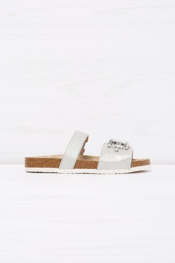 Sandali con strass, Grigio argento, hi-res