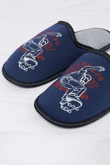 Slipper with print in contrasting colour