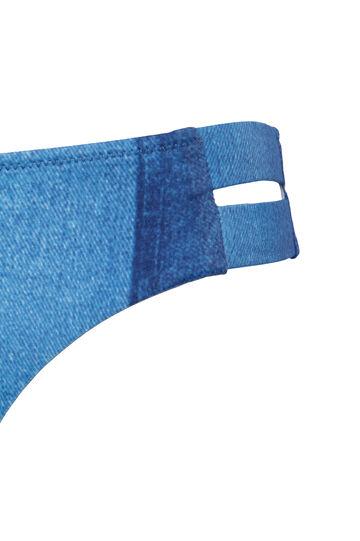 Slip effetto jeans delavé, Denim, hi-res