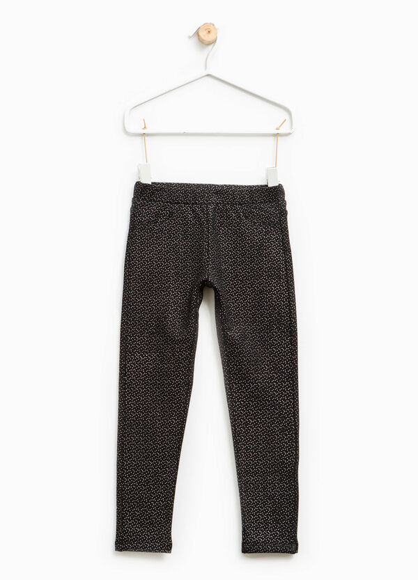 Polka dot trousers in cotton | OVS