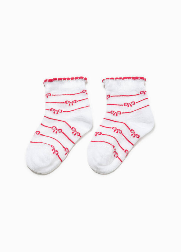 Socks with striped pattern and bows | OVS