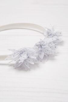 Cerchietto per capelli fantasia pois, Bianco, hi-res