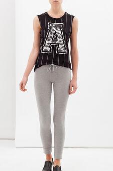 Stretch cotton blend leggings, Grey, hi-res