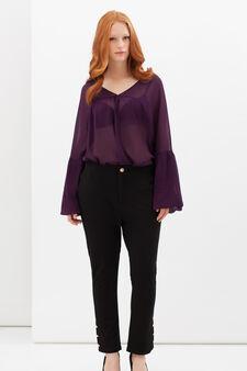 Curvyglam stretch trousers, Black, hi-res