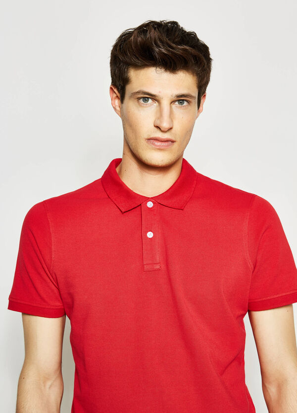 Solid colour polo shirt in 100% cotton   OVS