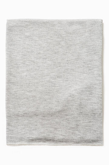 Viscose neck warmer, Grey Marl, hi-res